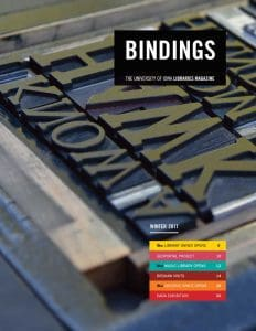 Cover of Bindings - Winter 2017