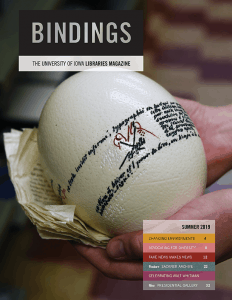 Cover of Bindings - Summer 2019
