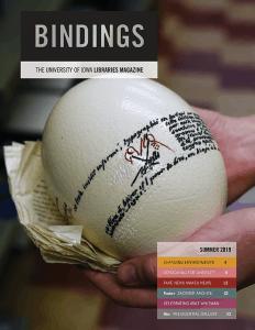 Cover of Bindings - Summer 2019