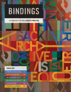 Cover of Bindings - Winter 2021