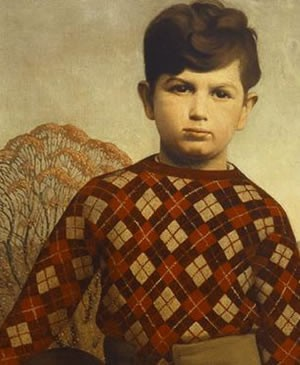 Plaid Sweater by Grant Wood, 1931