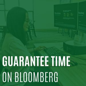 Guarantee time to use Bloomberg.