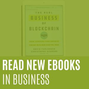 Read new e-books from the Business Library.