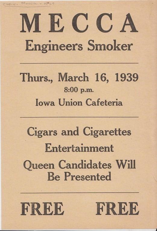 MECCA Smoker, 1939