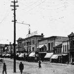 Photo of Clinton Street in Iowa City, 1895