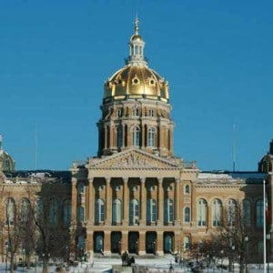 State capitol building of Iowa in Des Moines.