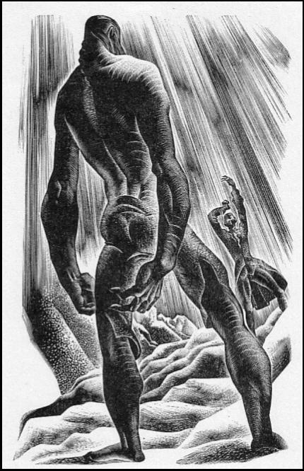 Illustration of Frankenstein's monster