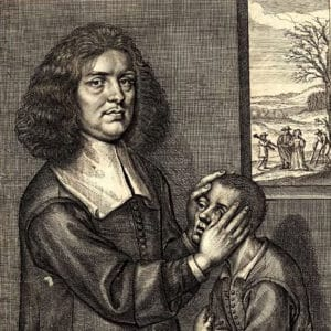A portrait of V. Greatrakes from A brief account of Mr Valentine Greatrak's, and divers of the strange cures by him lately performed, by Valentine Greatrakes, 1666