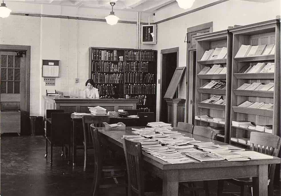 Current Periodicals Table, Medical Library, c. 1938