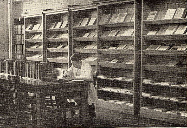 Periodical display area, Medical Library, c. 1943