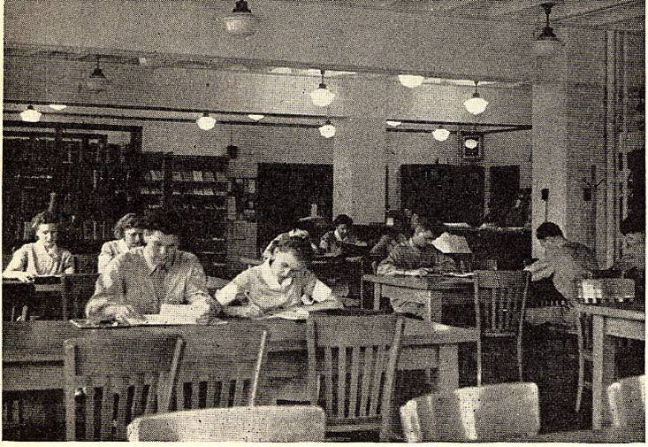 Medical Library, Reading Room, c. 1943