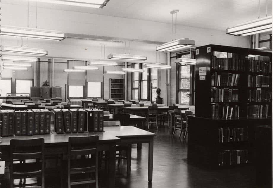 Medical Library Reading Room, c. 1967.