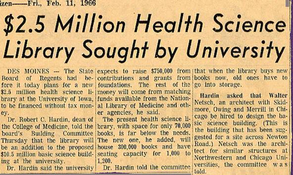 $2.5 Million Health Science Library Sought by University