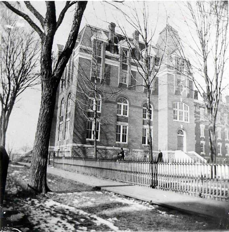Photo taken c. 1890's showing east side of the Medical Building