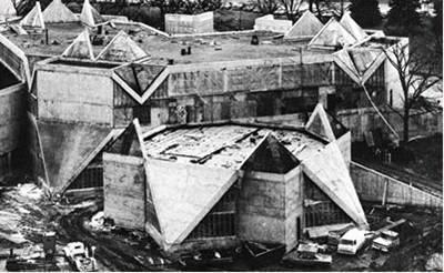 Library under construction, c. 1973