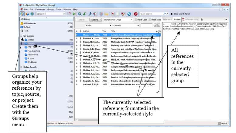 Exploring the EndNote Library