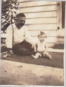 Asa A. Wirt & daughter Peggy, 1930s