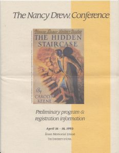 The front cover of Rediscovering Nancy Drew, published 1995.