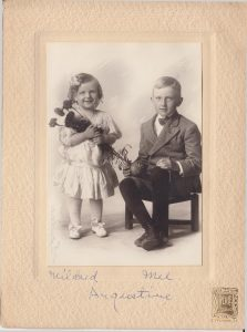 Mildred & her brother Melville Augustine, 1900s