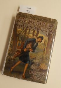 Author's copy of The Secret of the Old Clock, published 1930.