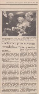 Daily Iowa article, April 16, 1993