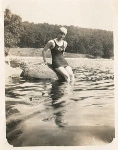 Mildred, Seals Club swimmer, 1920s