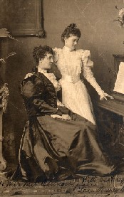Alice Ettinger and her teacher, Sara Hershey Eddy (seated) from the Rose Ettinger Papers.