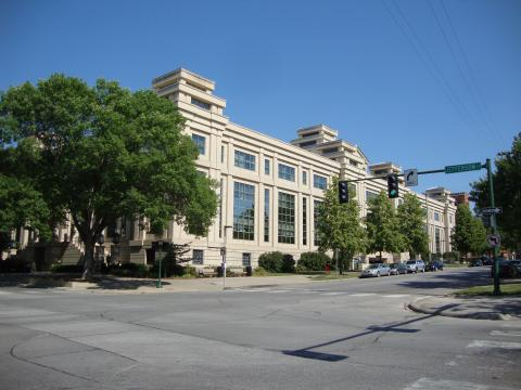 Exterior photo of John Pappajohn Business Building