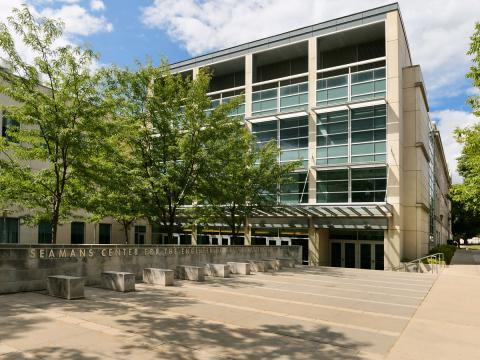 Exterior photo of Seamans Center (Engineering Building)