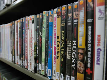 Picture of DVDs is the media collection