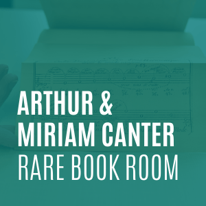 arthur and miriam canter rare book room