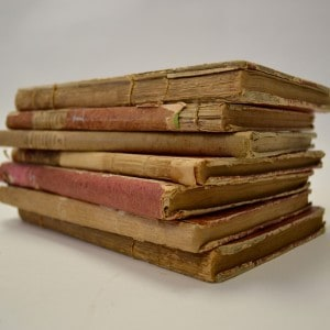Stack of Haydn String Quartets from the Canter Rare Book Room