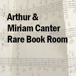 arthur and miriam canter rare book room