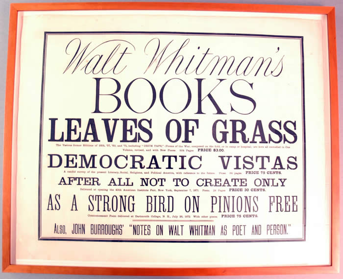 Whitman Broadside