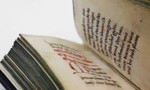 Medieval Manuscript open