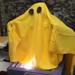 Yellow Ghost coming up from copier