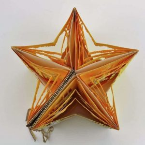 Artist Book pulled out to look like a star