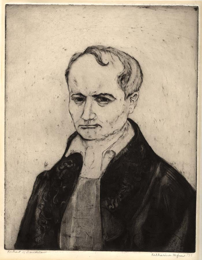 A portrait of Baudelaire by Katharine Hefner.