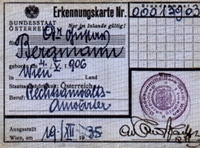Gustav Bergmann's Austrian identity card
