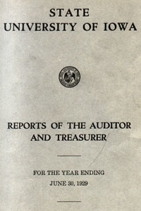 Cover from 1929 financial report