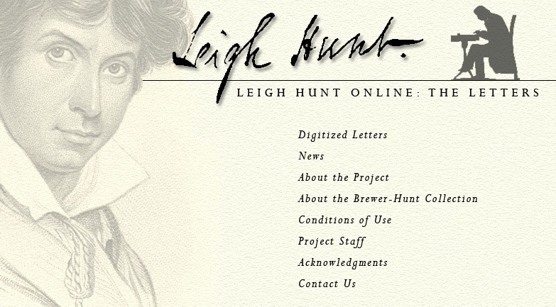 Leight Hunt Letters Online