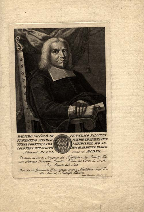 A print of Nicolo Falcucci given to the University of Iowa Libraries