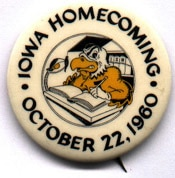Homecoming button, 1960