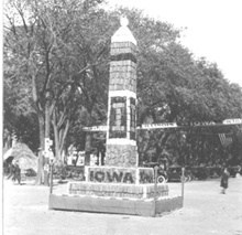Homecoming corn monument, 1921