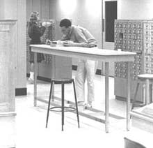 Main Library card catalog area, 1963