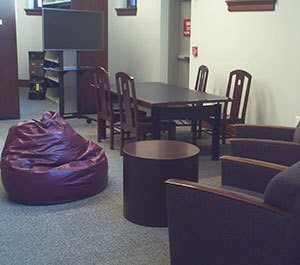Soft seating study area