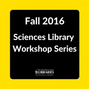 Fall 2016 Workshops
