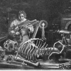 Image of Frankenstein's laboratory from Mary Shelley's Frankenstein