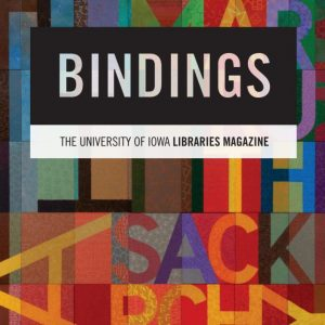 Cover image for Bindings winter 2021 featuring Sackner Archive art