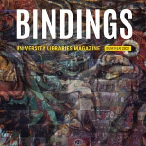 Cover image for Bindings Summer 2021 derived from a mural in the Latino Native American Cultural Center